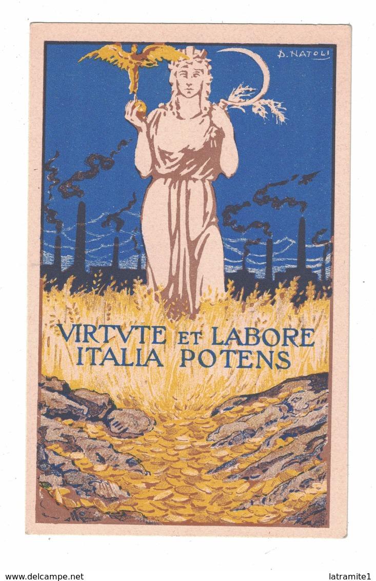 CARTOLINA PUBBLICITARIA  BANCA CENTRALE DI CAMBIO   Illustratore NATOLI - Pubblicitari