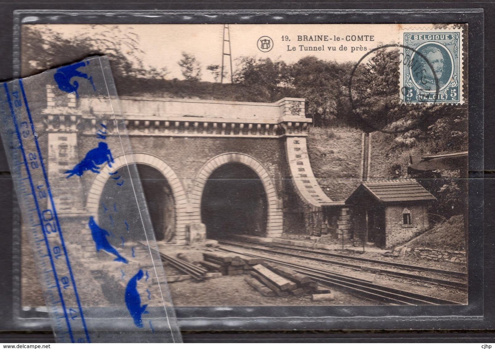 Cha13 Belgique Braine Le Comte Hainaut Le Tunnel Vu De Pres Chemin De Fer  Malengreau Cuesmes - Braine-le-Comte