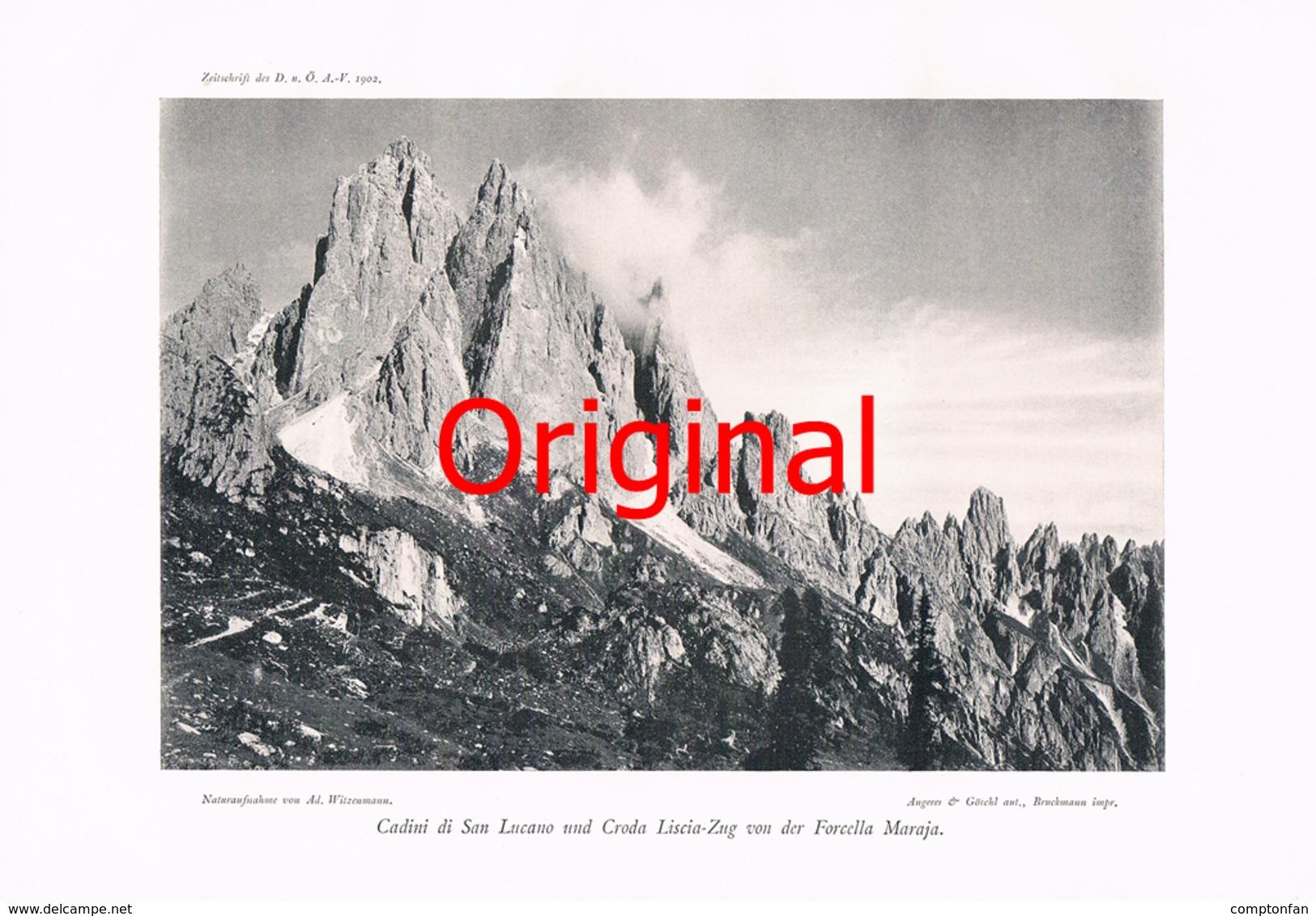 274 Sexten Cadini Di San Lucano Kunstblatt 1902 !! - Historische Dokumente