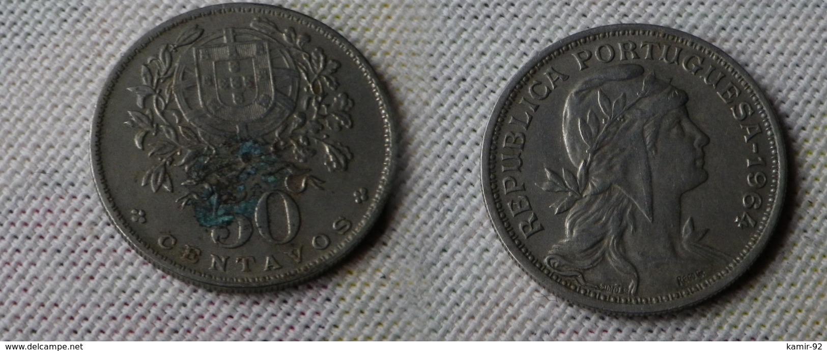Portugal 50  Centavos 1964     Km#577 -       Ttb - Portugal