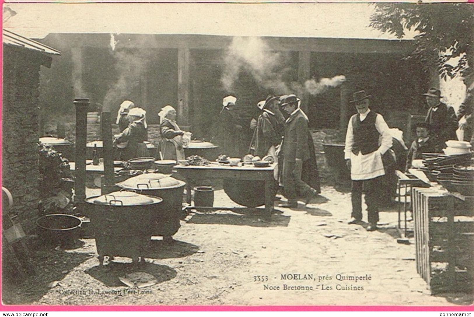 29 - MOËLAN Près QUIMPERLÉ - Noce Bretonne - Les Cuisines . Collection H. Laurent , Port-Louis N° 3553 - Noces