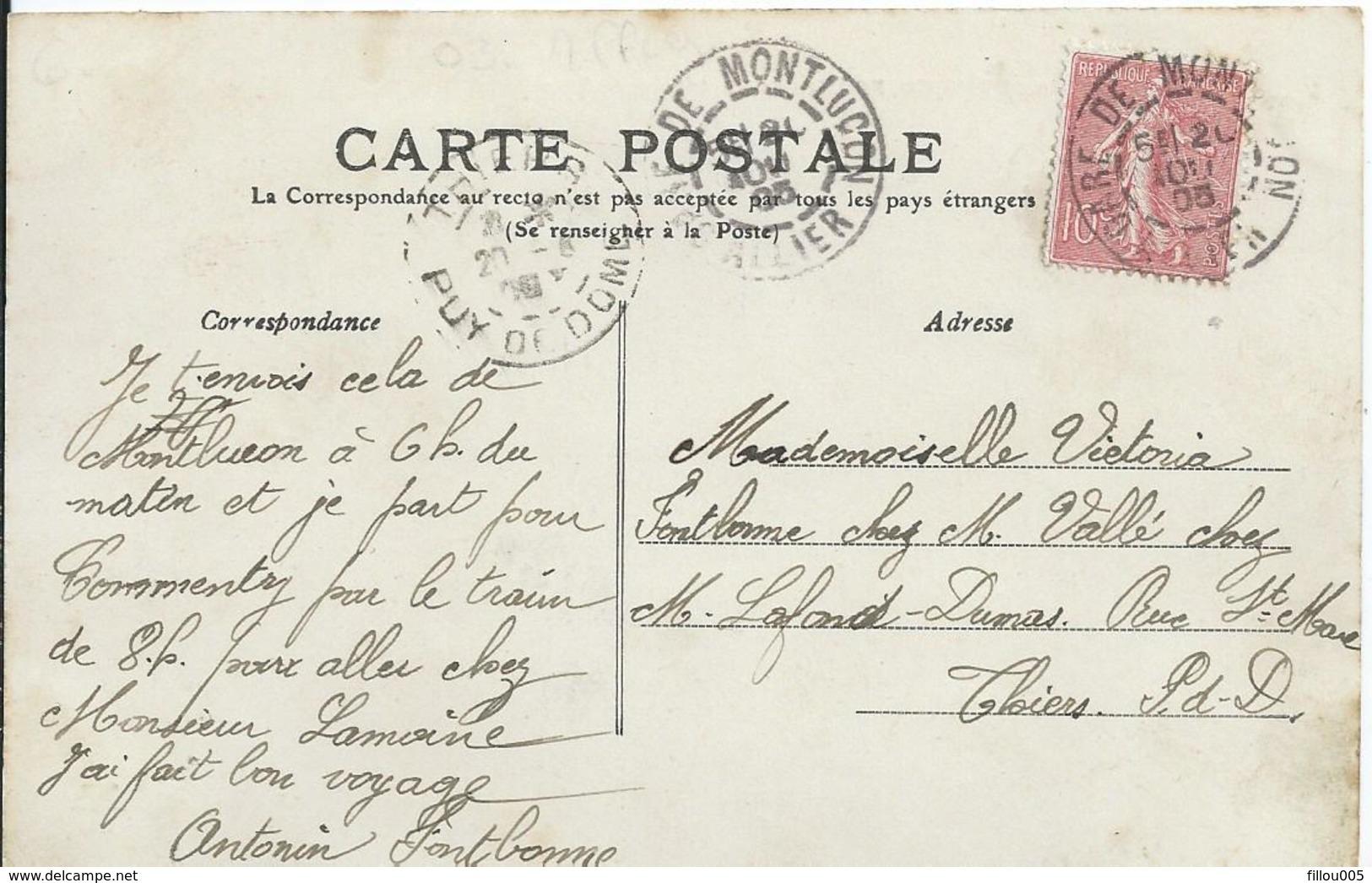 03 MONTLUCON  (ALLIER )  AVENUE DE LA GARE .. JOBERT TAPISSIER..MEUBLE.. SIEGE..FONTAINE.....C3016 - Montlucon