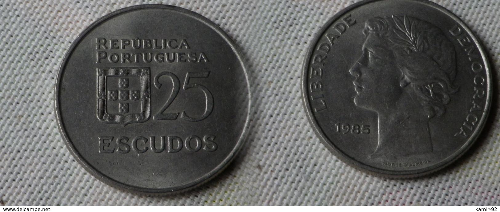 Portugal 25   Escudos 1985   Km#607 A  -  Ttb - Portugal