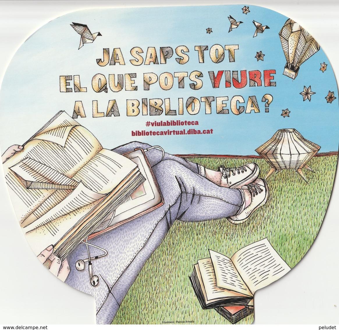 Abanico - Pay Pay - éventail - DIPUTACIO BARCELONA - XARXA DE BIBLIOTEQUES MUNICIPALS - Material Y Accesorios