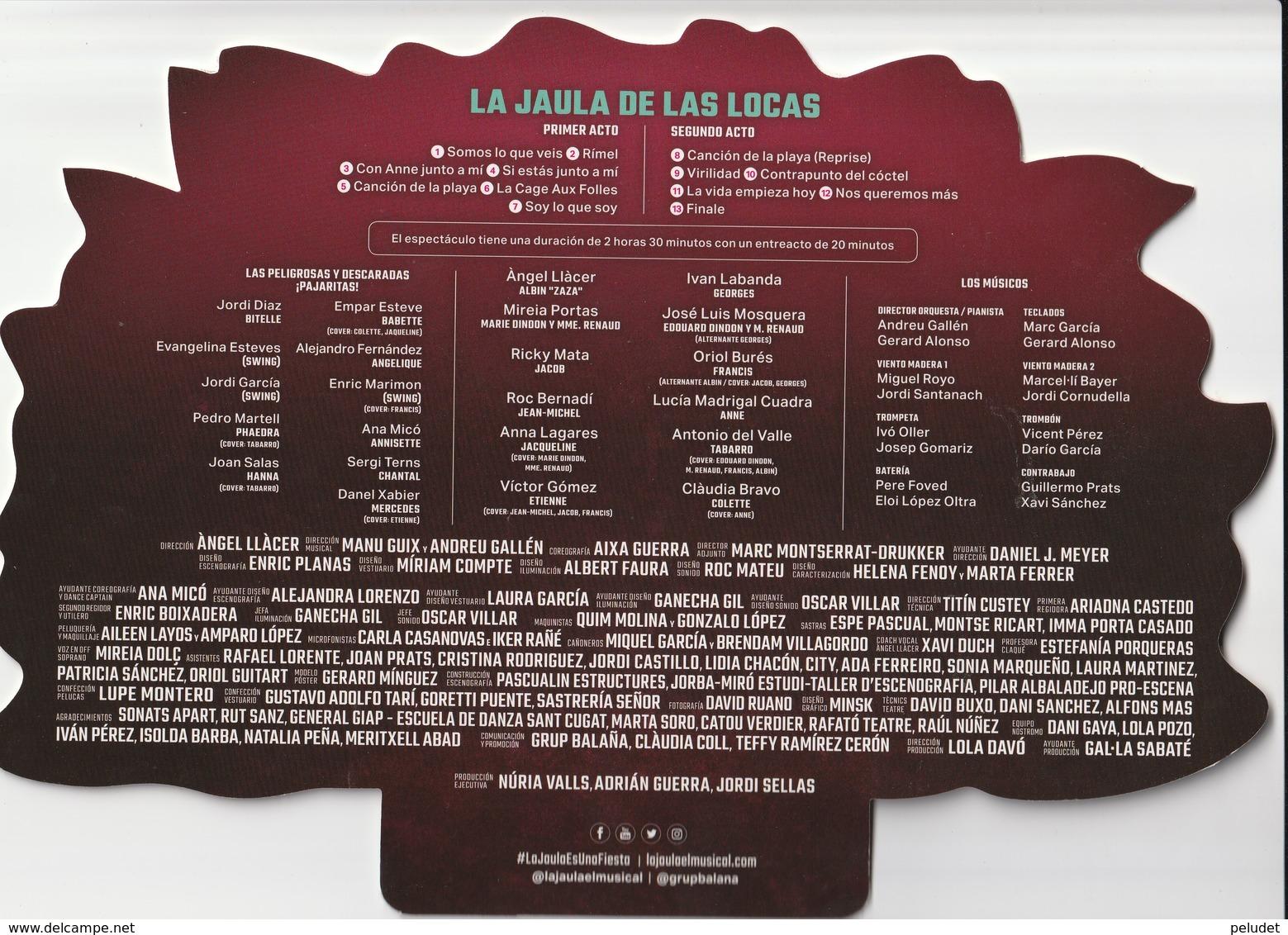 Abanico - Pay Pay - éventail - LA JAULA DE LAS LOCAS - LA CAGE AU FOLLES - Documentos Antiguos