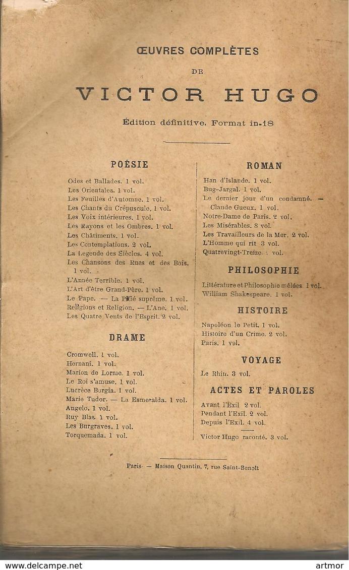 HUGO - CROMWELL - HETZEL & MAISON QUENTIN - SANS DATE ( Fin XIXe-début XXe) - Books, Magazines, Comics