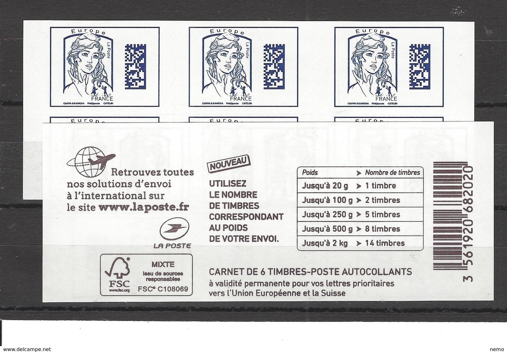 Carnet** Marianne De Ciappa Bleu Europe - Carnets