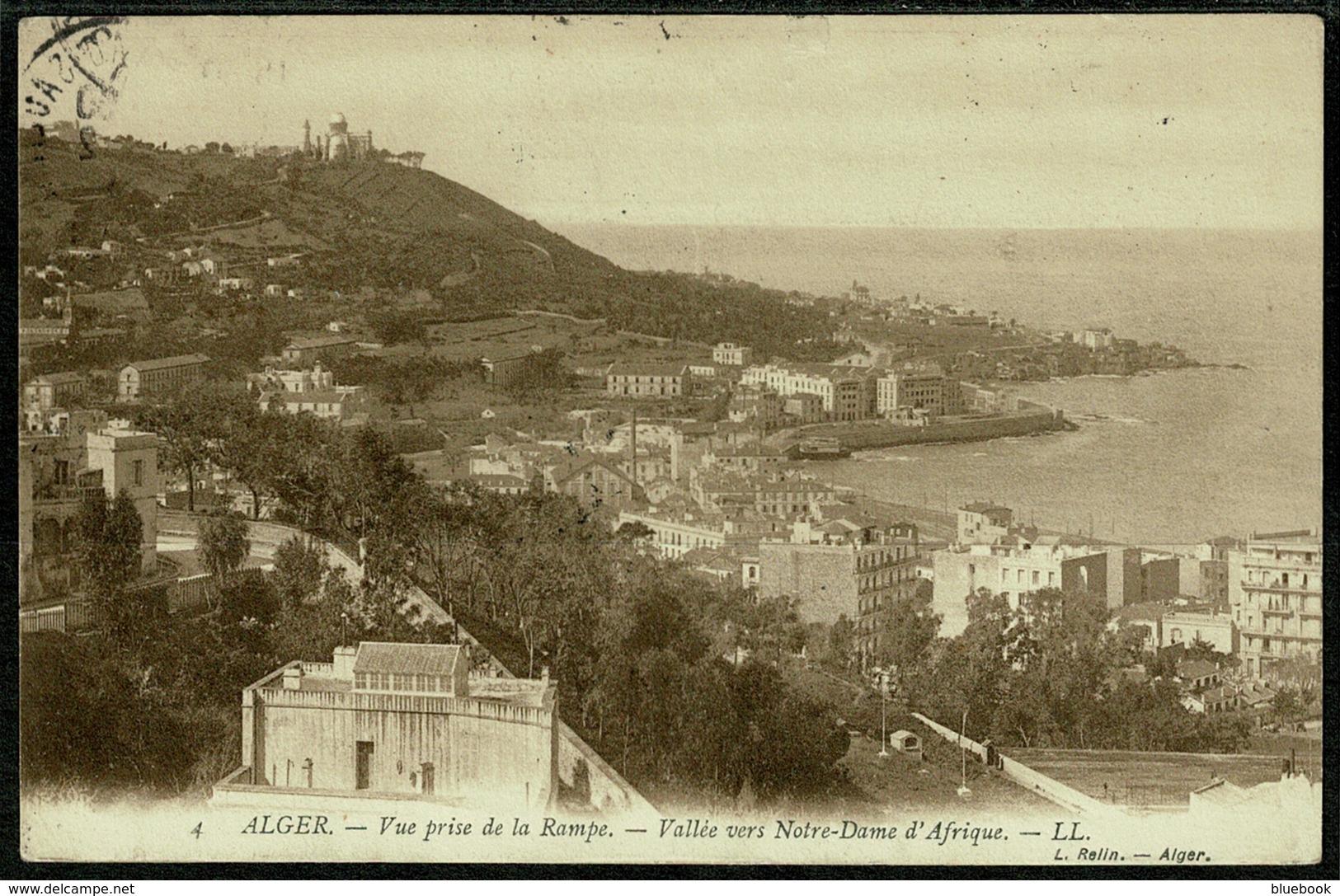 Ref 1261 - 1906 Algeria LL Postcard - Alger Plateau Sauliere Postmark France Stamp 10c Rate To London - Algiers