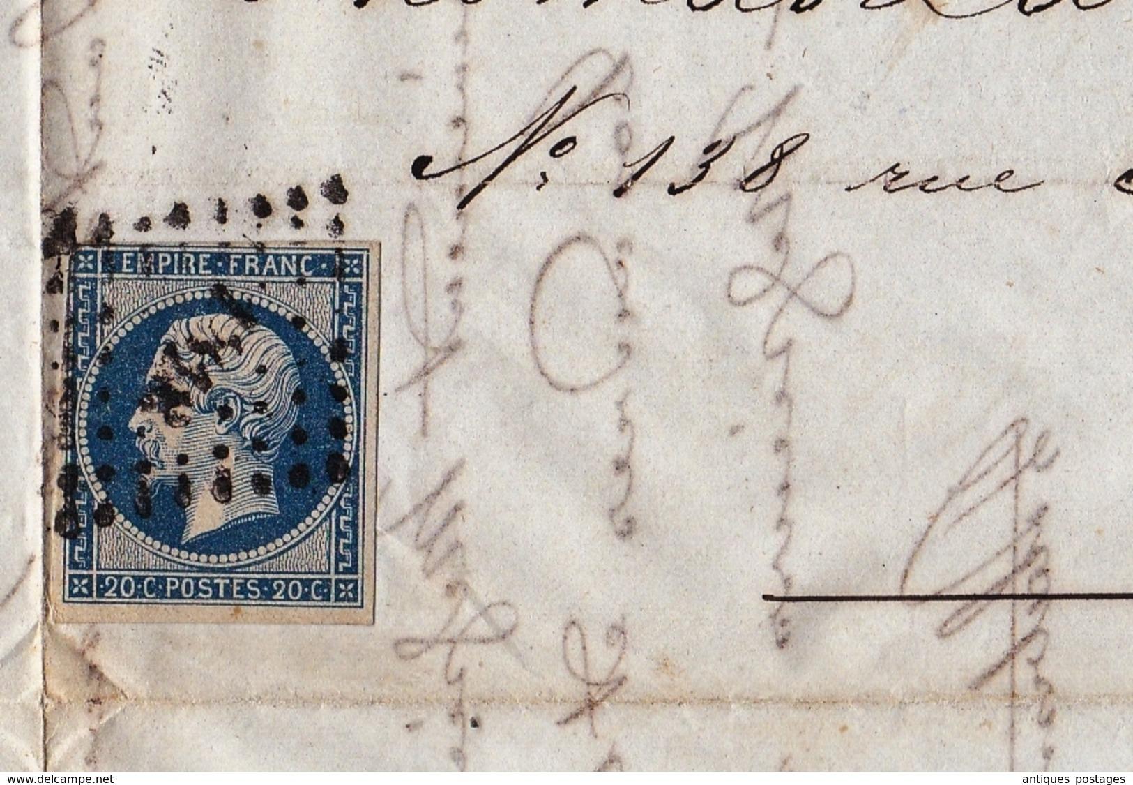 Lyon 1855 Rhône Platzmann Berry Et Cie Soierie Soie Rubans Ganterie Rue Impériale Silk Thomas La Chambre Et Cie - 1853-1860 Napoleon III