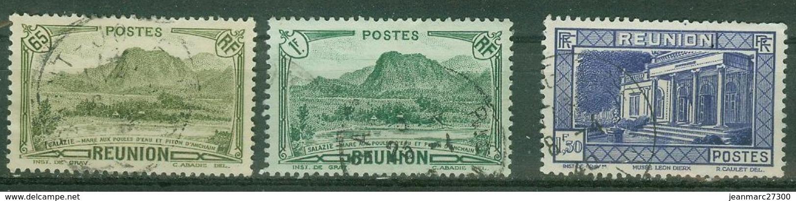 FRANCE COLONIES - Réunion  Poste YT N° 137 140 142 Oblitérés - Oblitérés