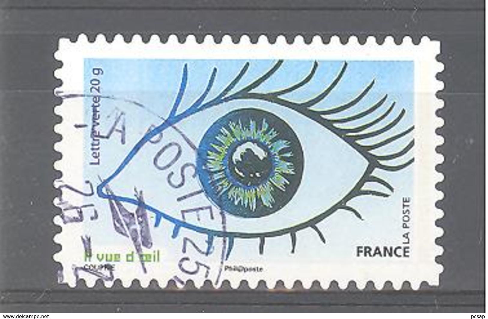 France Autoadhésif Oblitéré N°1181 (la Vue) (cachet Rond) - France