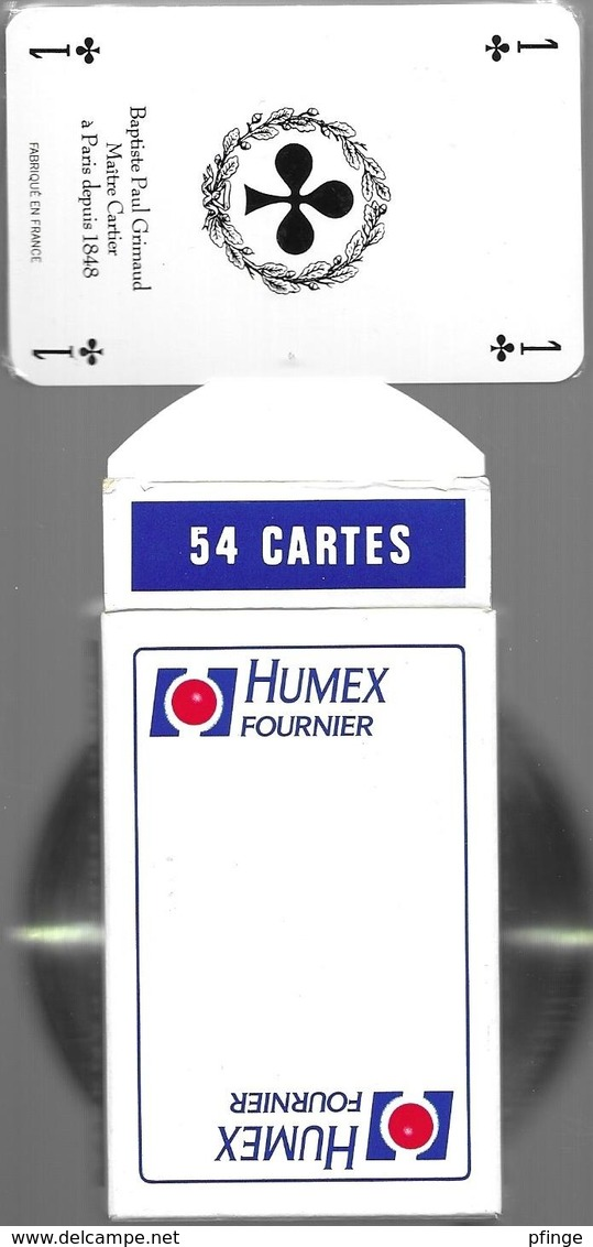 Jeu De 54 Cartes Sous Blister Avec Son étui - Humex Fournier - 54 Cartes