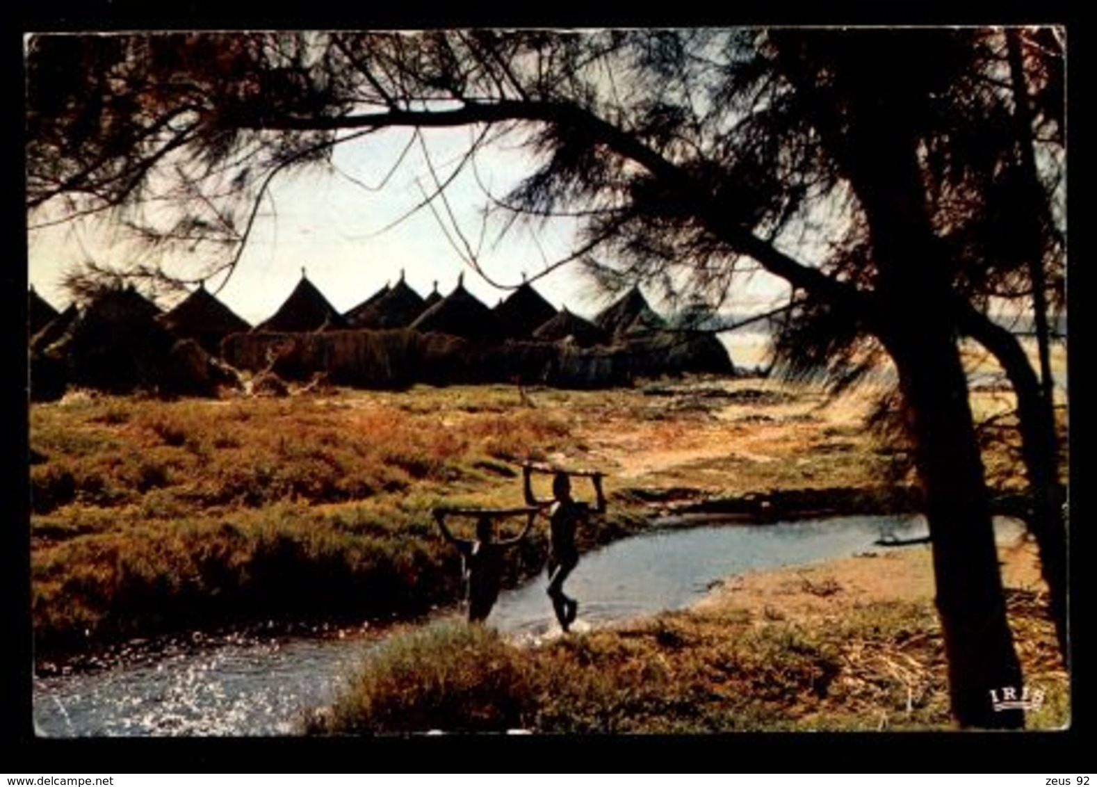 C418 CÔTE D'IVOIRE IVORY COAST - FOLKLORE ETHNICS PEOPLE COSTUMES - VILLAGE AFRICAIN CHILDREN BRINGING WATER 1966 - Côte-d'Ivoire