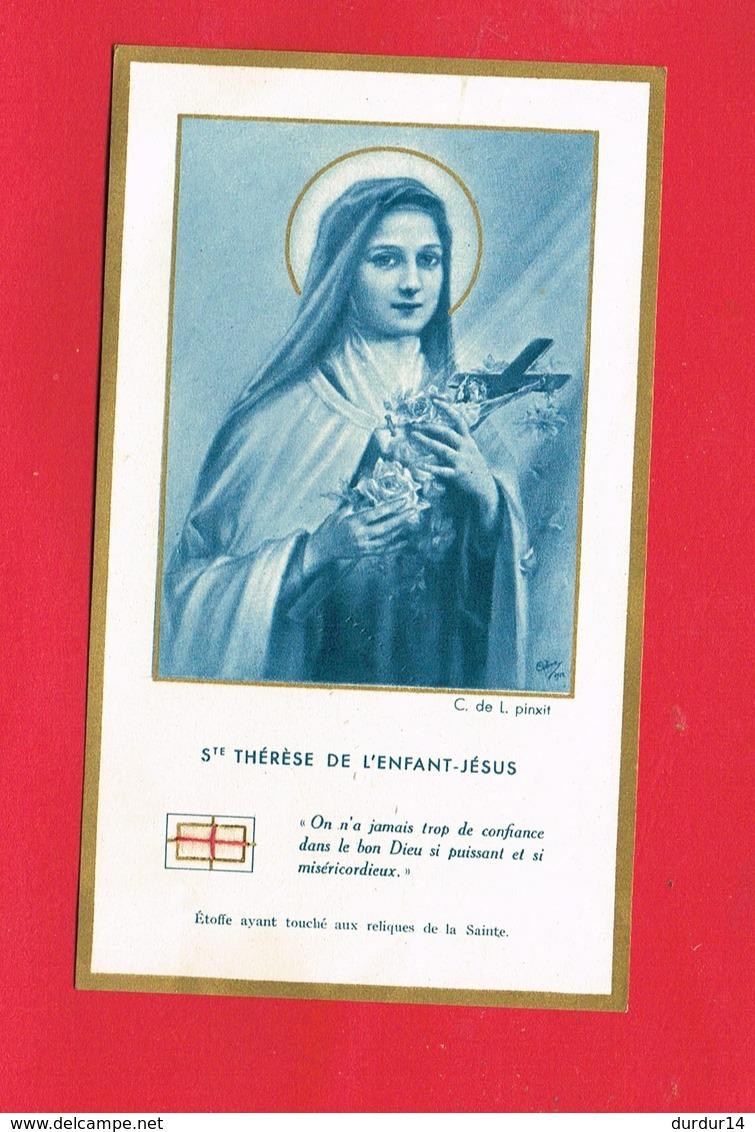 Image Pieuse ... Ste Thérèse De L'enfant Jésus étoffe Ayant Touché Aux Reliques La Sainte - Imágenes Religiosas