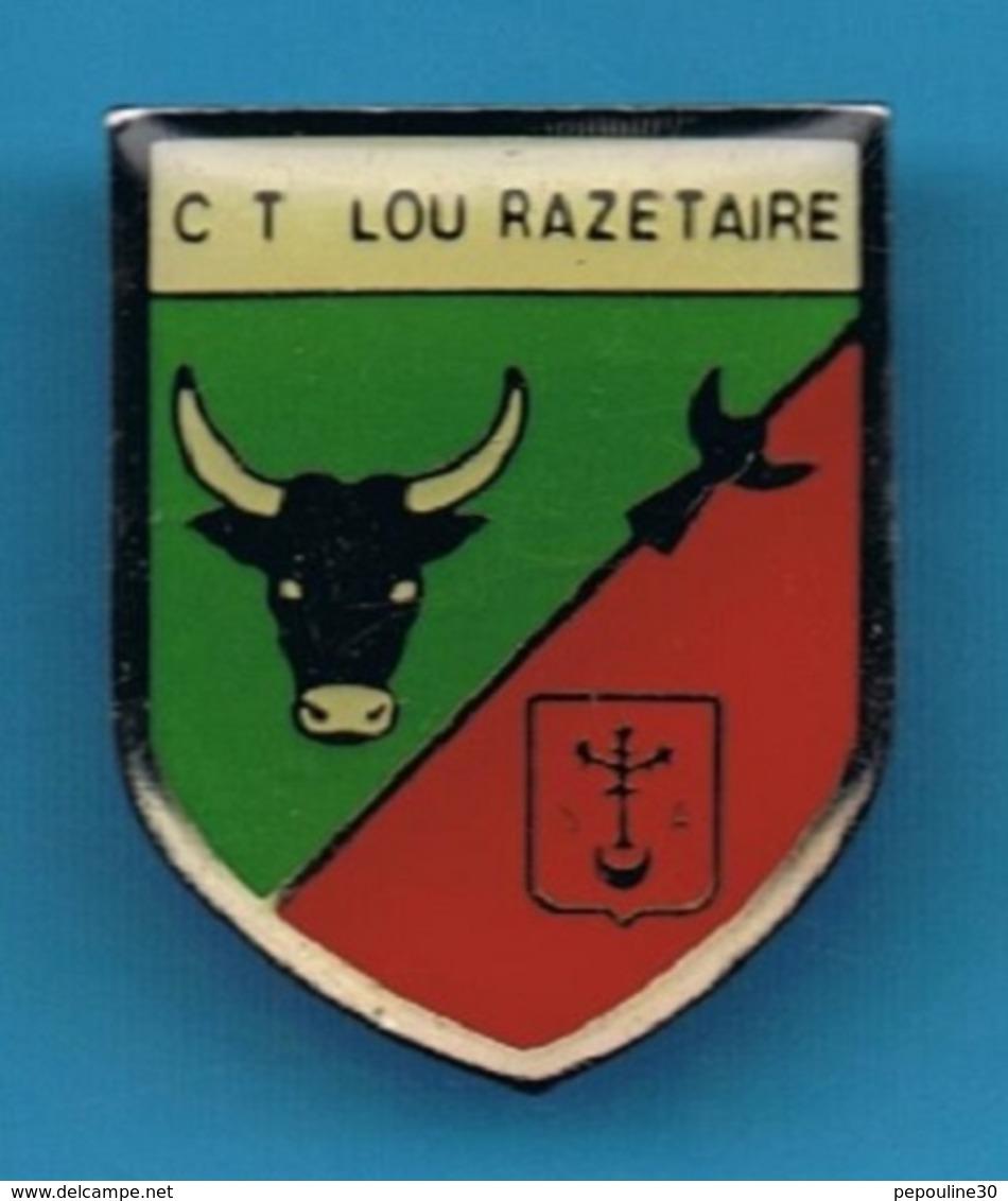 PIN'S //  ** BLASON / CLUB TAURIN / LOU RAZETAÏRE ** - Bullfight - Corrida
