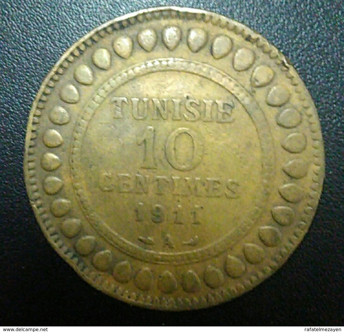 Tunisia 10 Centimes 1911 Mohammed V - Tunisie