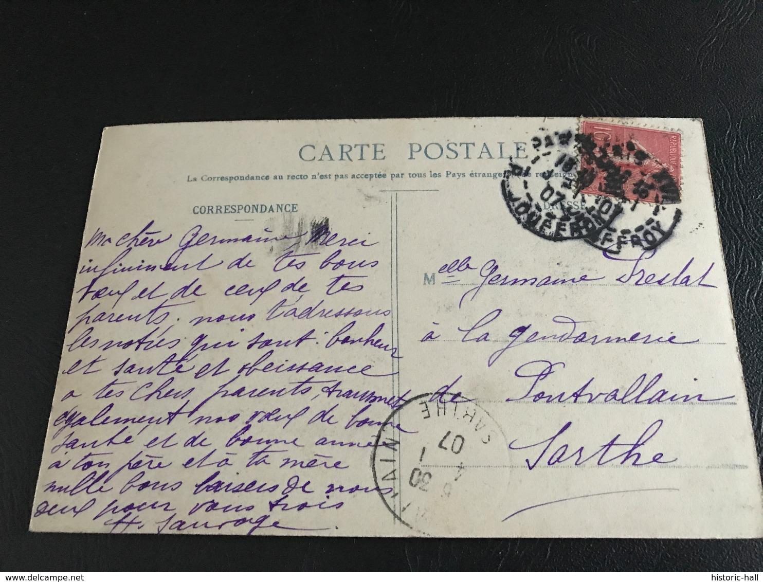 La Bonne Aventure - 1907 Timbrée - Bergeret