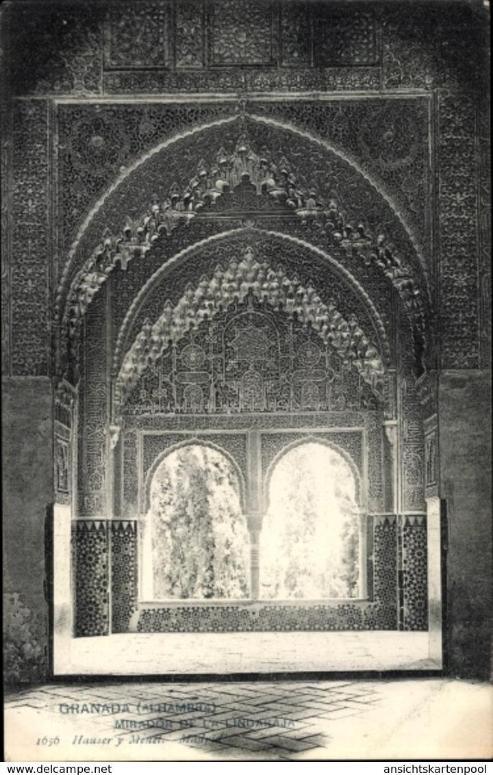 Cp Granada Andalusien Spanien, Alhambra, Mirador De La Lindaraja - Autres