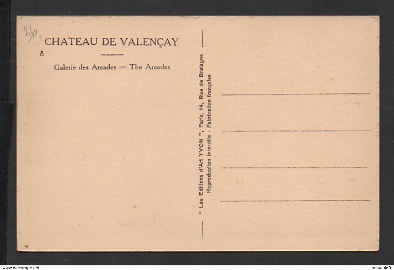 DD / 36 INDRE / VALENÇAY / AU CHÂTEAU GALERIE DES ARCADES - France