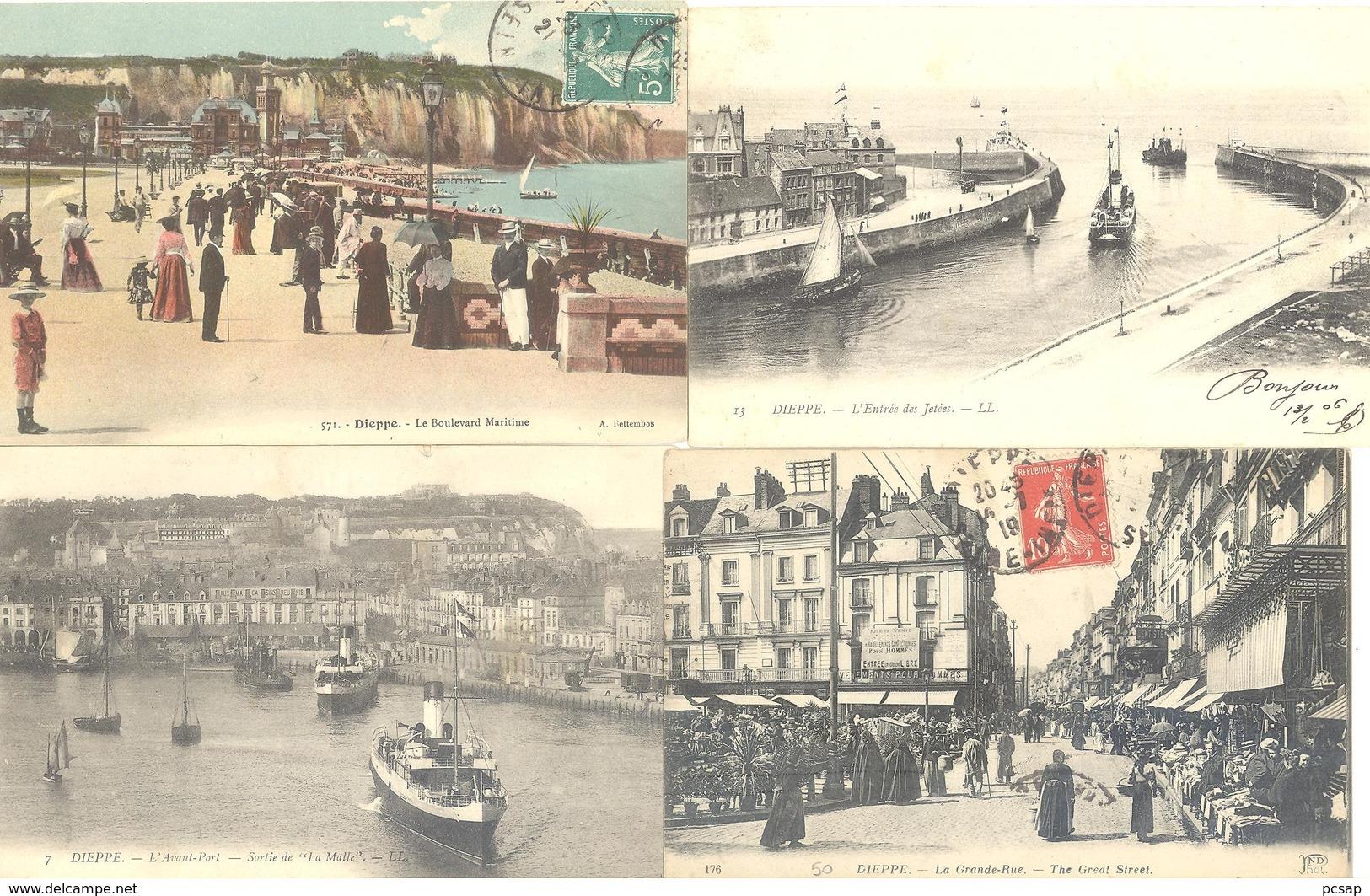Lot De 200 Cartes Postales De DIEPPE (bon état Général) (port Gratuit) - 100 - 499 Cartes