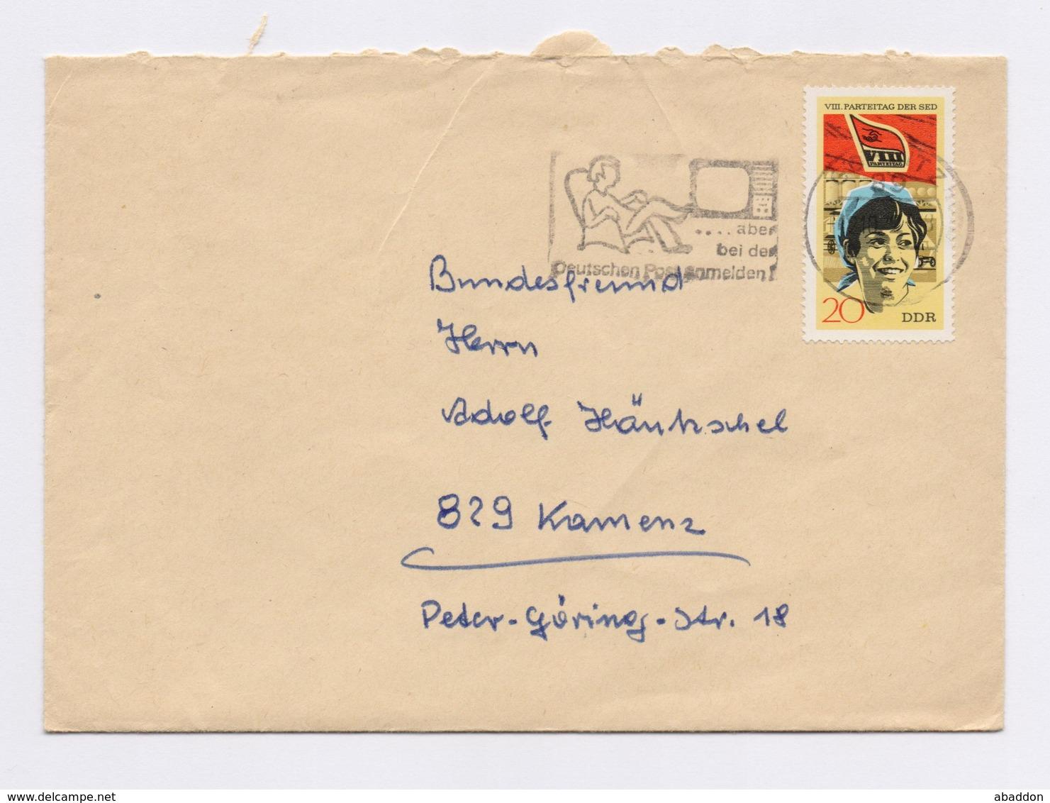 MWSt - GÖRLITZ, Aber Bei Der Deutschen Post Anmelden! EF 1677 Auf Brief Mit Inhalt 1972 - DDR