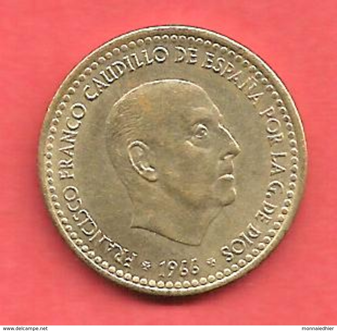 1 Peseta , ESPAGNE , Alu-Bronze , 1966 ( 70 ) , N° KM # 796 , N° Y125 - [ 5] 1949-… : Royaume