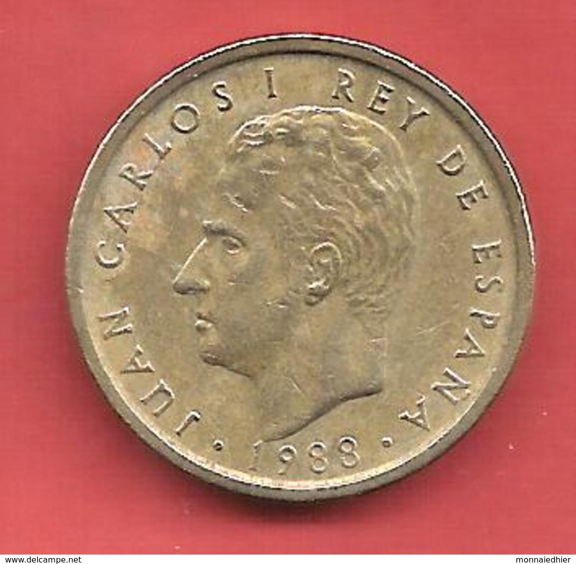 100 Pesetas , ESPAGNE , Alu-Bronze , 1988 , N° KM # 826 , N° Y139 - [ 5] 1949-… : Royaume