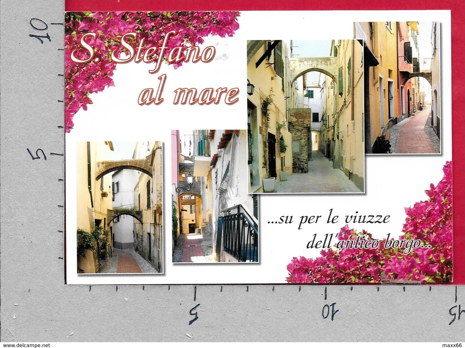 CARTOLINA VG ITALIA - S. STEFANO AL MARE (IM) Su Per Le Viuzze Dell'antico Borgo - 10 X 15 - ANN. 2004 IMPERIA - Imperia