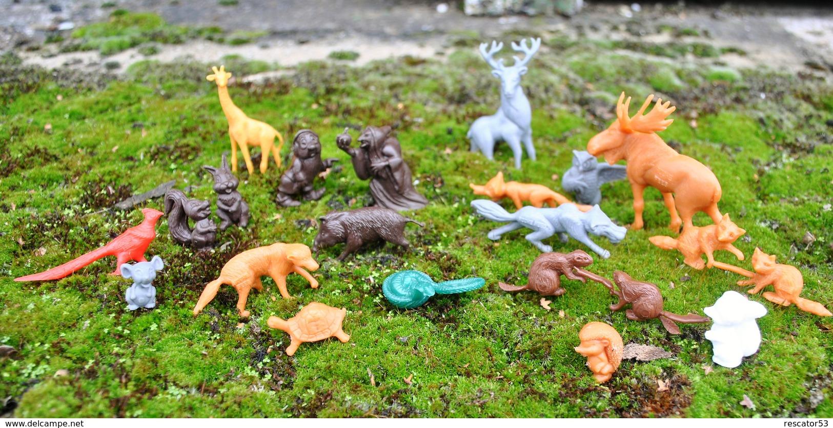 Rare Lot De Petites Figurines Animaux Disney Et Autres Publicitaires La Roche Aux Fées - Toy Memorabilia