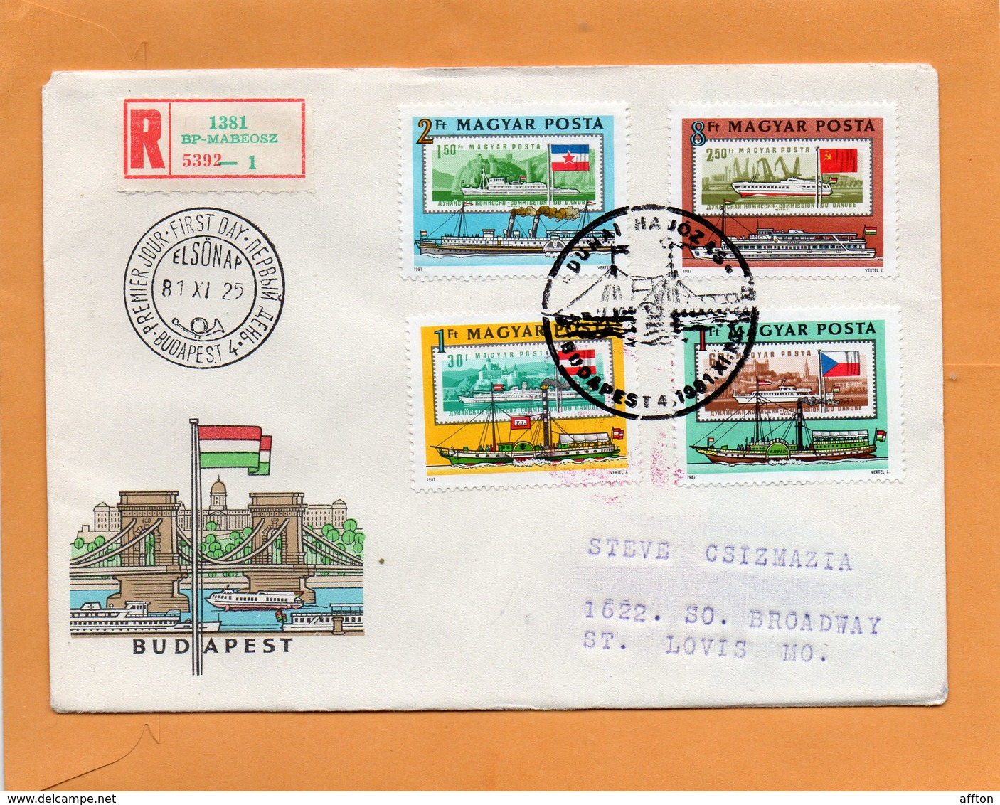 Hungary 1981 FDC Mailed - FDC