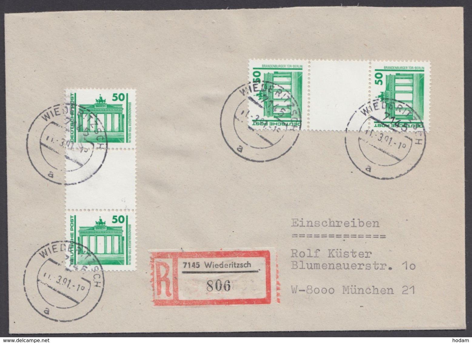 SZ 25, Seltene MeF Mit 2 ZD Auf R-Brief - DDR