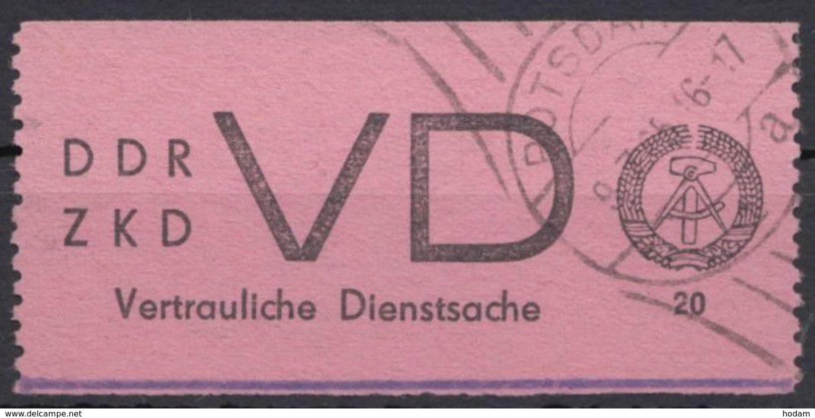 "ZKD : VD 2, Sauberer Stempel ""Potsdam"" - DDR"
