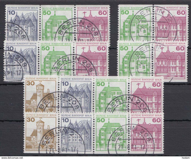 W 75/80, Alle 4 ZD Und 2 Versch. 4er Streifen Aus MHBl. 20, Sauber Gestempelt - Berlin (West)