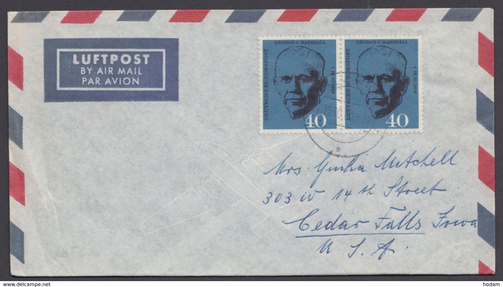 344, MeF Mit 2 Werten Auf Luftpost-FDC In Die USA - Briefe U. Dokumente