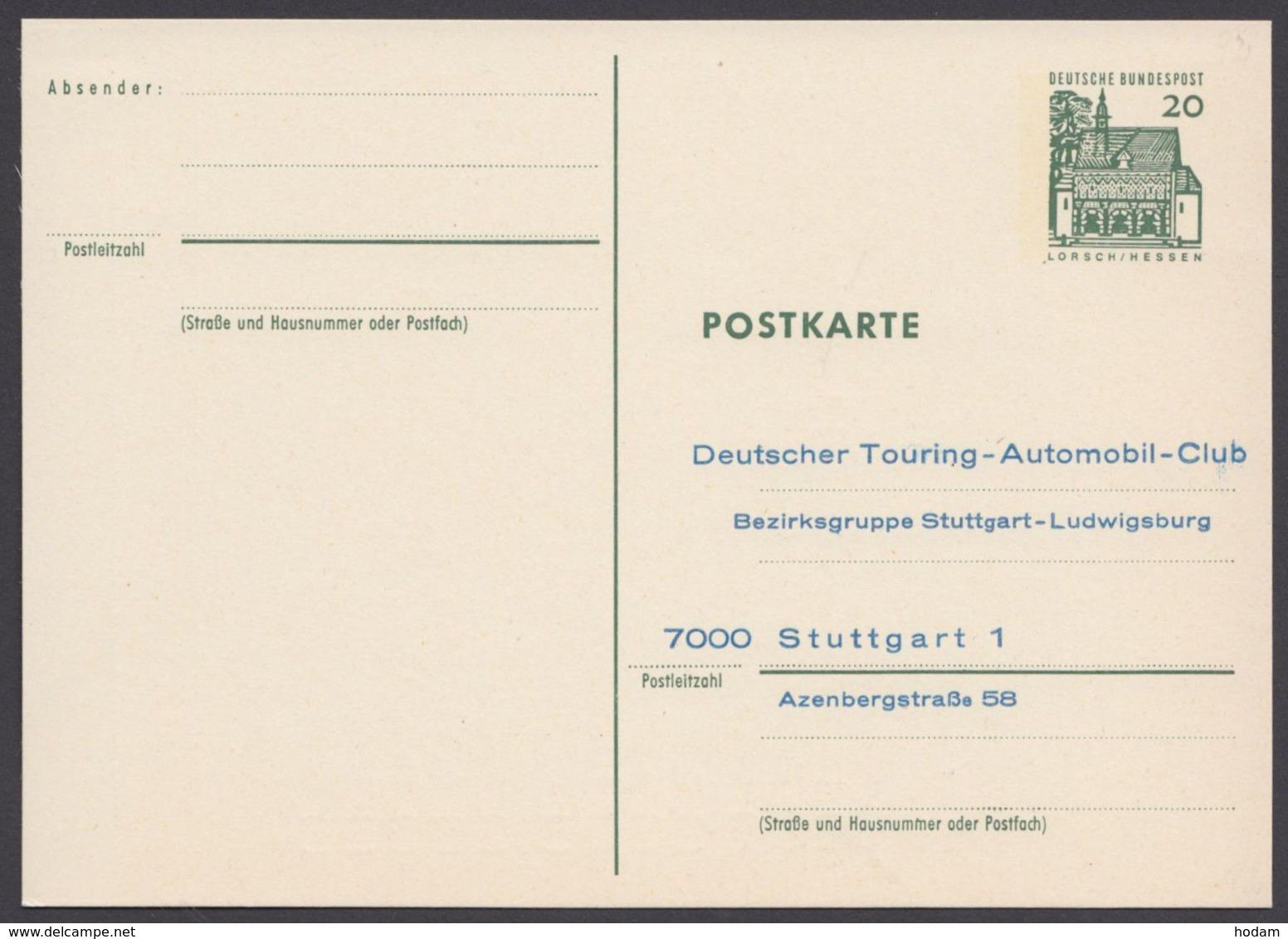 """P 90, Zudruck """"Automobilclub Stuttgart"""", Ungebraucht - BRD"""