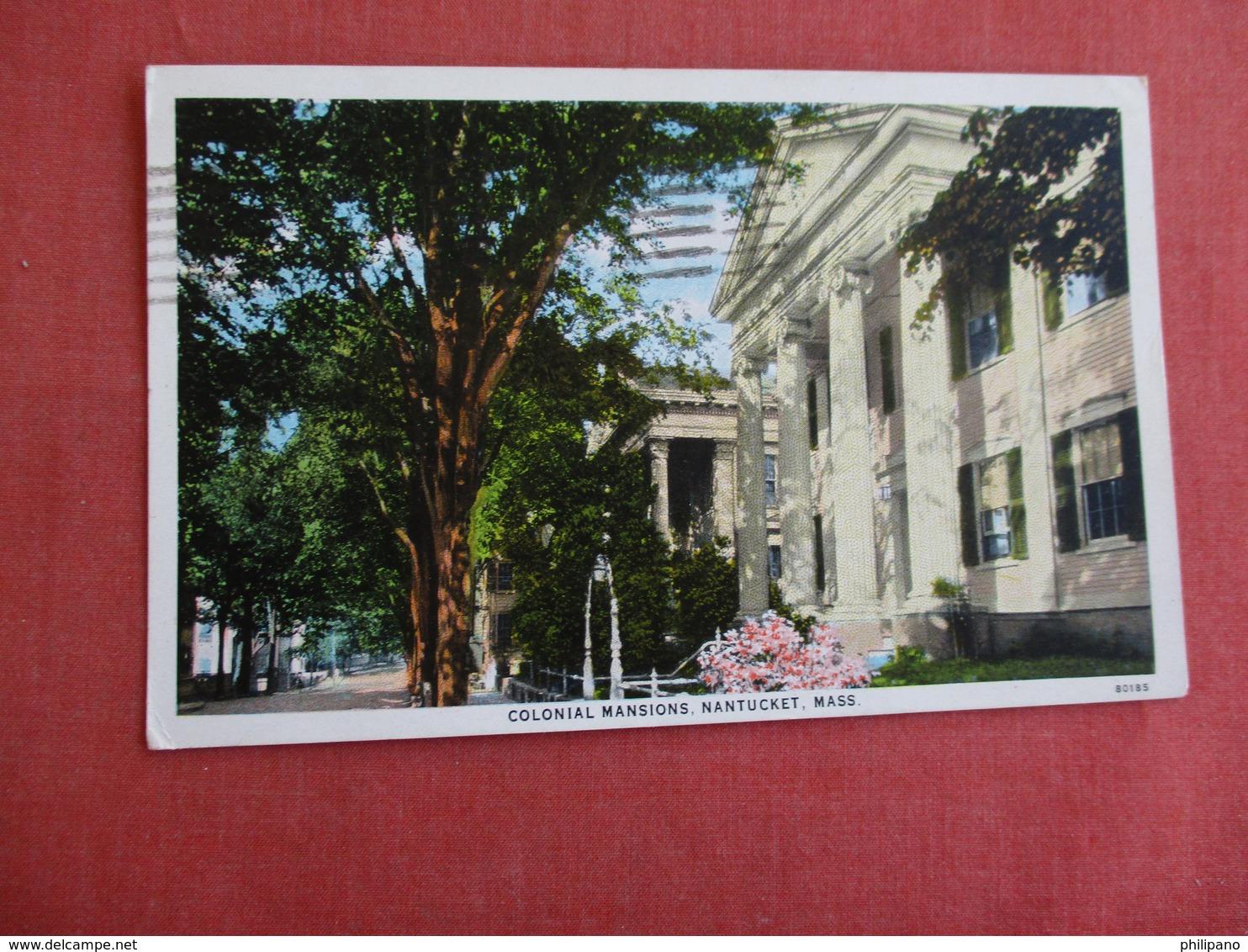 Colonial Mansions  Nantucket Massachusetts   Ref 3131 - Nantucket
