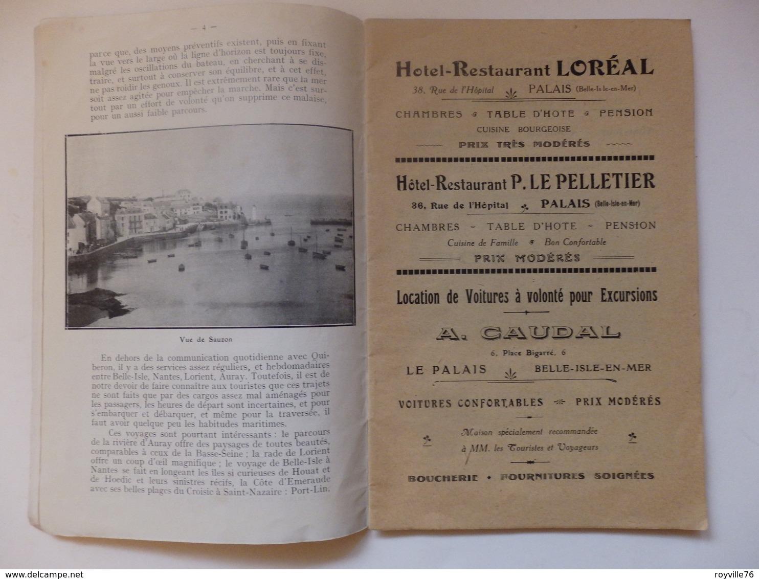 Guide De 14 P Sur  Belle-Isle En Mer Chemin De Fer D'Orléans. Belles Pubs. - Tourism Brochures