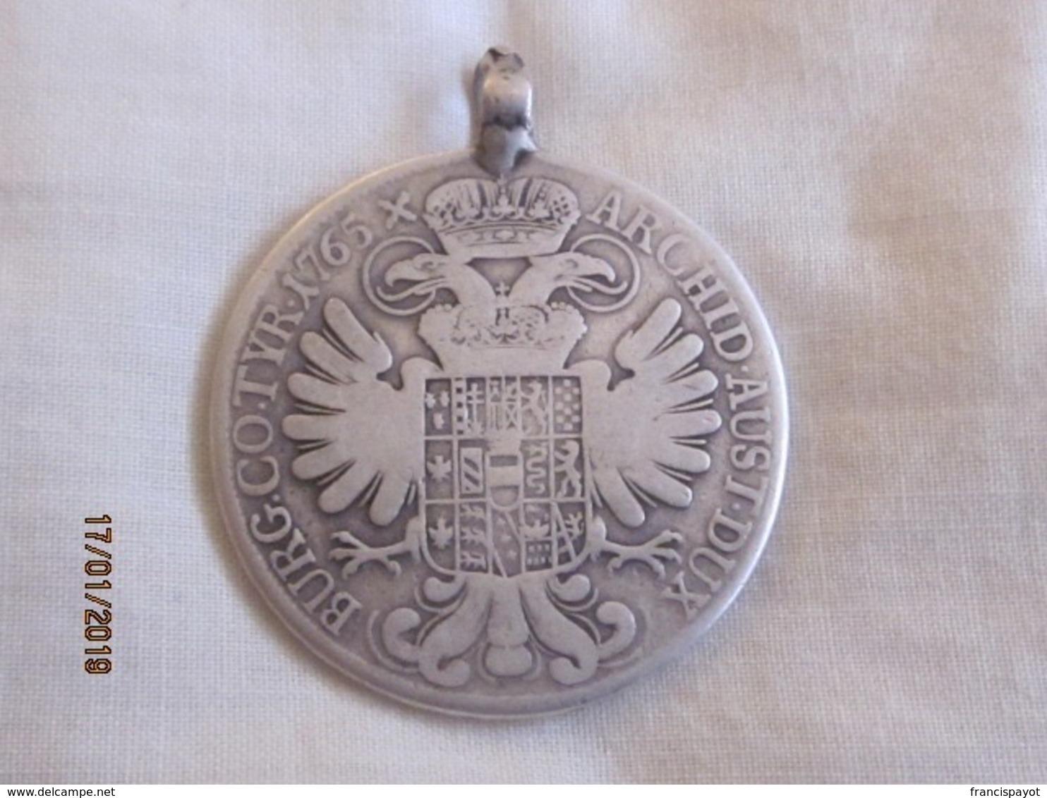 Austria: Thaler Maria Theresa 1765 - Autriche