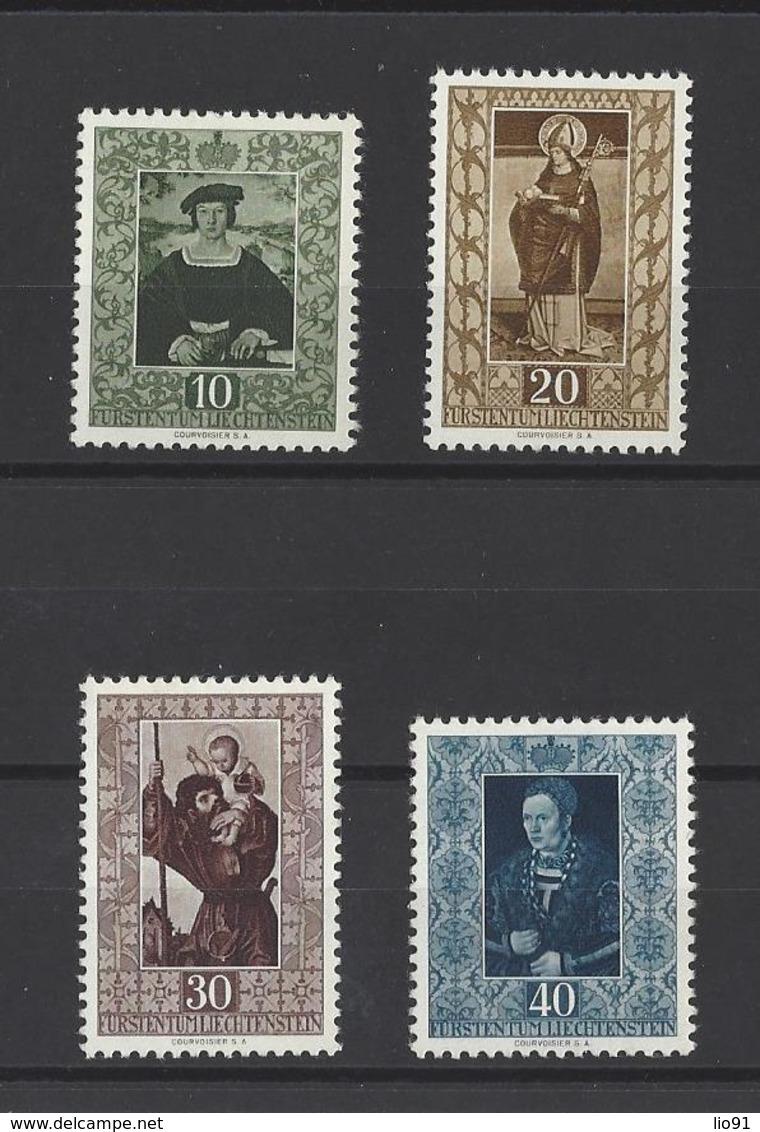 LIECHTENSTEIN  YT   N° 273/276  Neuf **  1953 - Liechtenstein