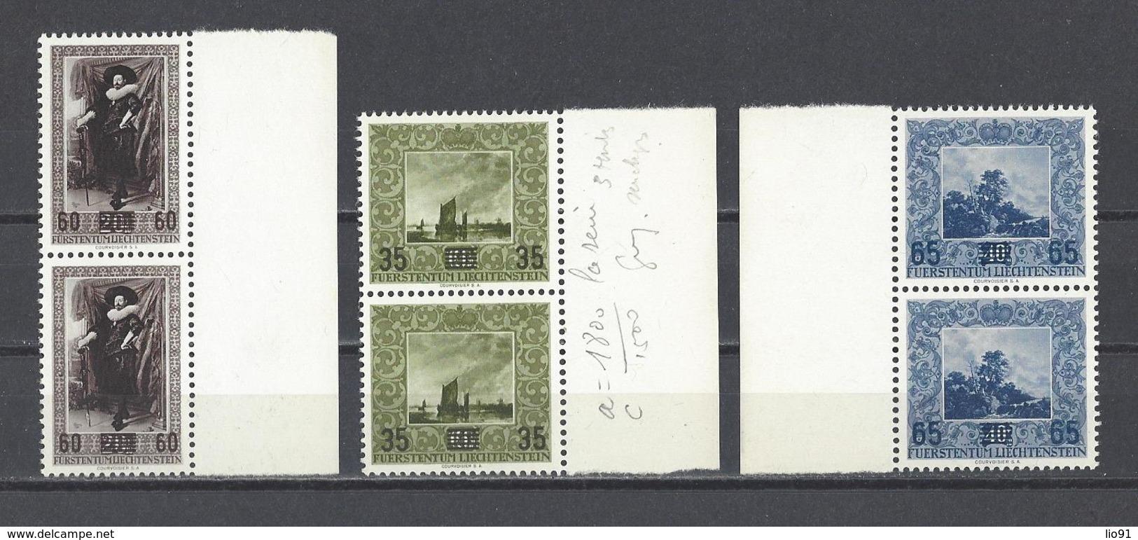 LIECHTENSTEIN  YT   N° 288/290  Neuf **  1954 - Liechtenstein