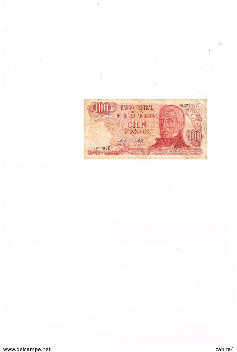 Banco Central De La Republica Argentina - Cien Pesos - 100 - 05.297.707E  - Ushuaia - Argentine