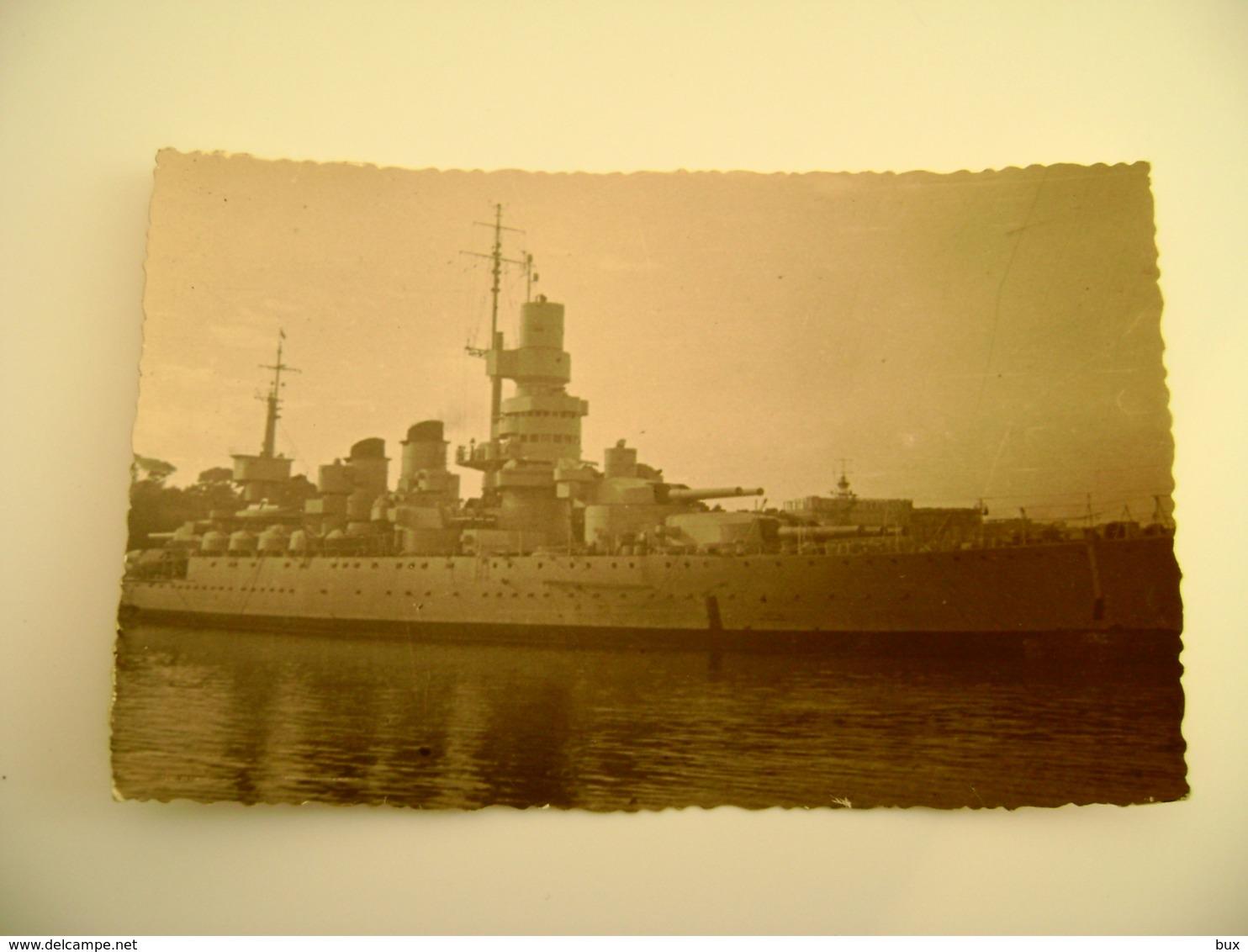 DA IDENTIFICARE FORMATO BABY CARD  PICCOLO   NAVE DA GUERRA WAR SHIP  WARSHIP  NON VIAGGIATA FOTOGRAFICA FERRANIA - Guerra