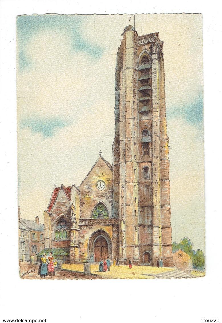 Cpm Illustration Barday - 02 - Chateau Thierry - Eglise Saint Crépin - 1945 - Barré Dayez 2181 A - Chateau Thierry