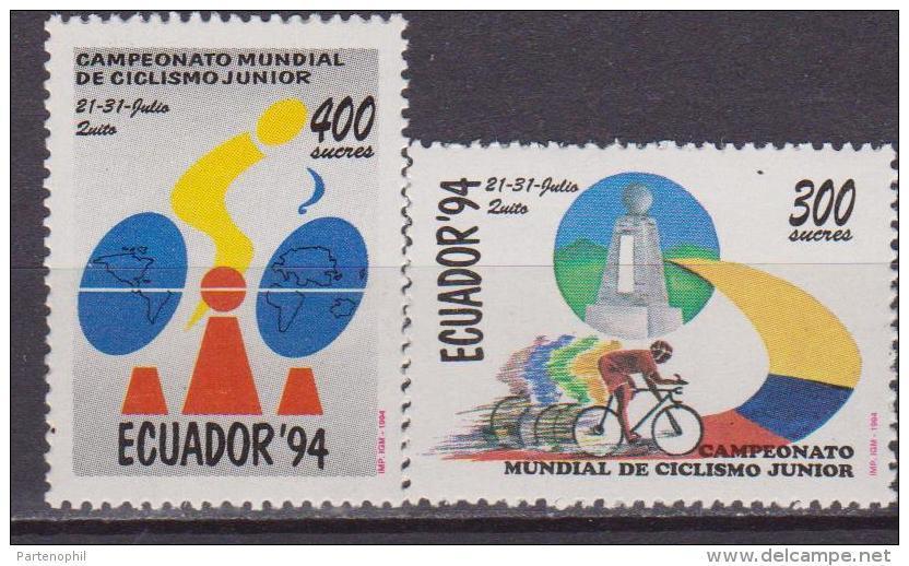ECUADOR  1994 CYCLING CICLISMO 2 V. MNH - Ciclismo