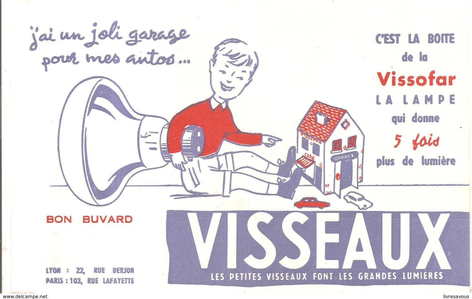 Buvard VISSEAUX Les Petits Visseaux Font Les Grandes Lumières - Electricité & Gaz