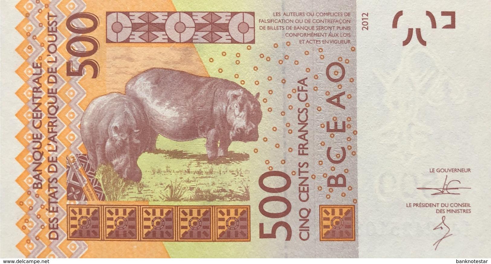 West African States 500 Francs, P-719Kc (2014) - UNC - SENEGAL - États D'Afrique De L'Ouest