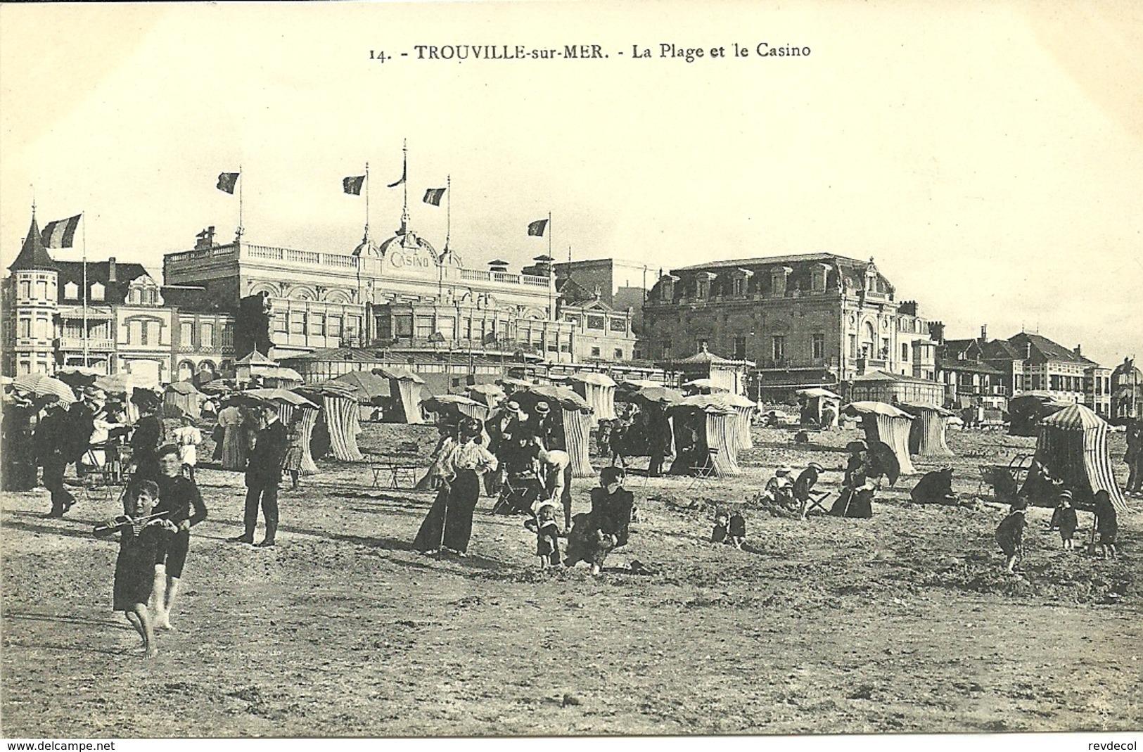 TROUVILLE  -- La Plage Et Le Casino                                             -- ? 14 - Trouville