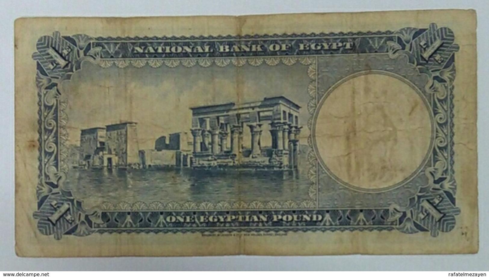 Egypt One Pound King Farouq 1950 - Egypte
