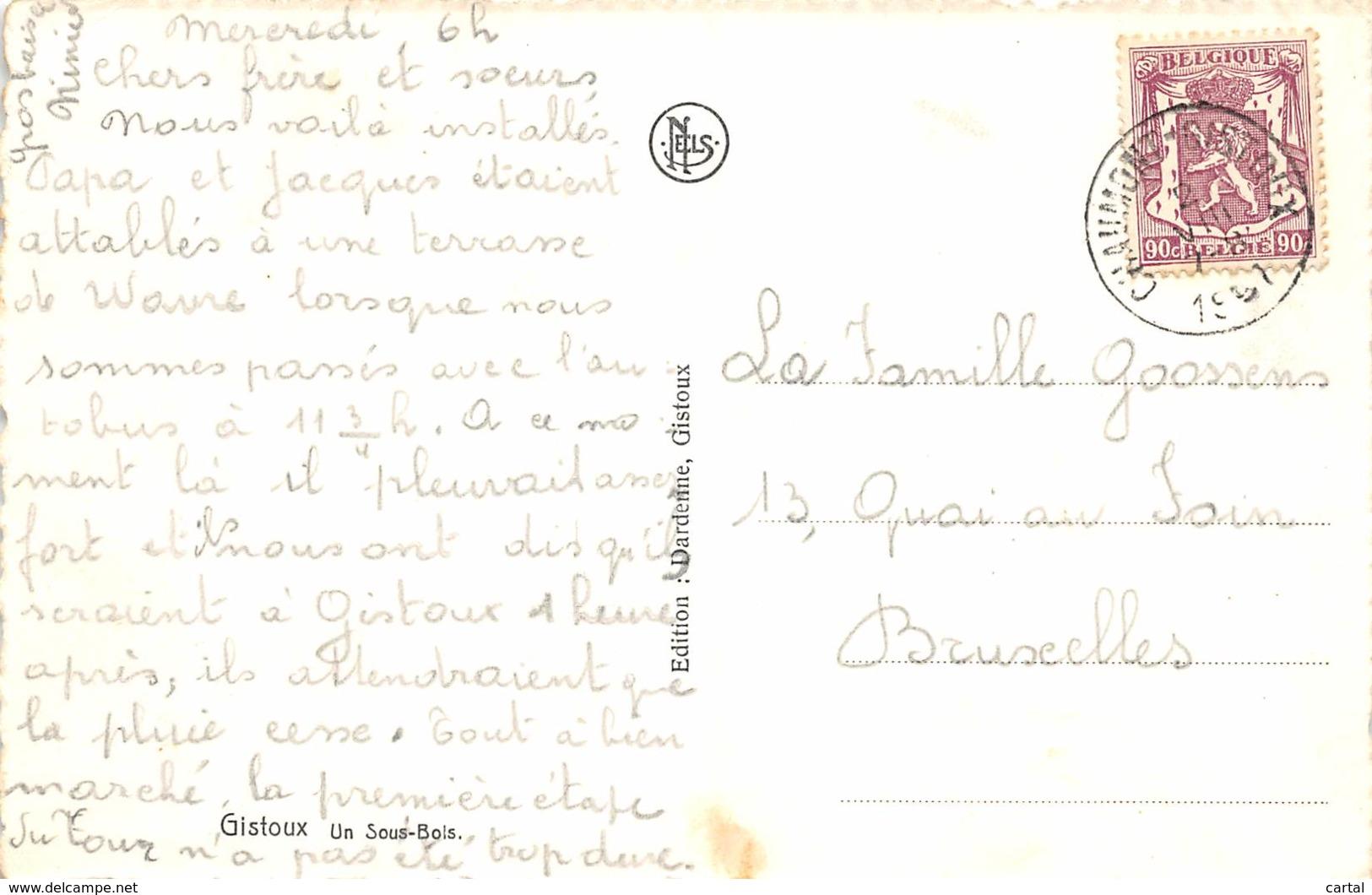 GISTOUX - Un Sous-Bois - Chaumont-Gistoux