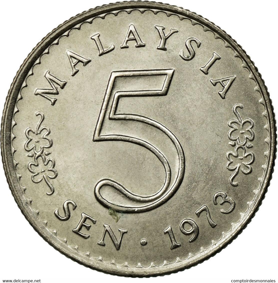 Monnaie, Malaysie, 5 Sen, 1973, Franklin Mint, SUP, Copper-nickel, KM:2 - Malaysie